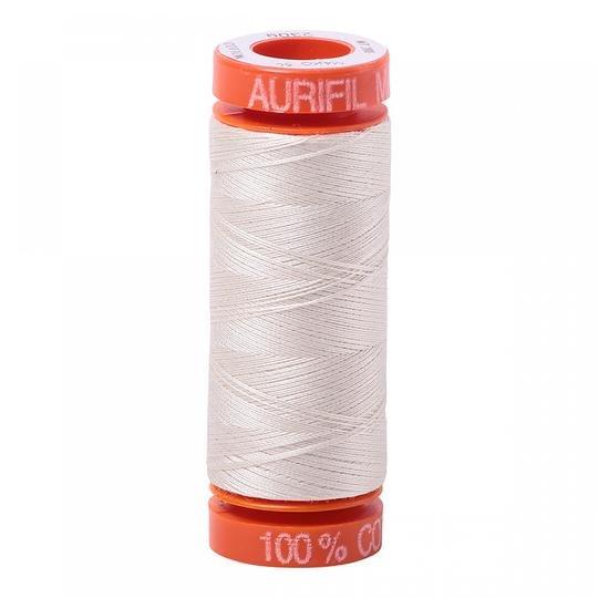 Aurifil Cotton 2309 Silver White 50wt 220 yds