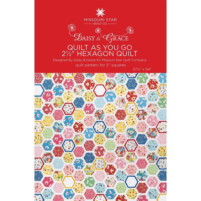 Quilt as you Go 2-1/2 Hexagon Quilt Pattern