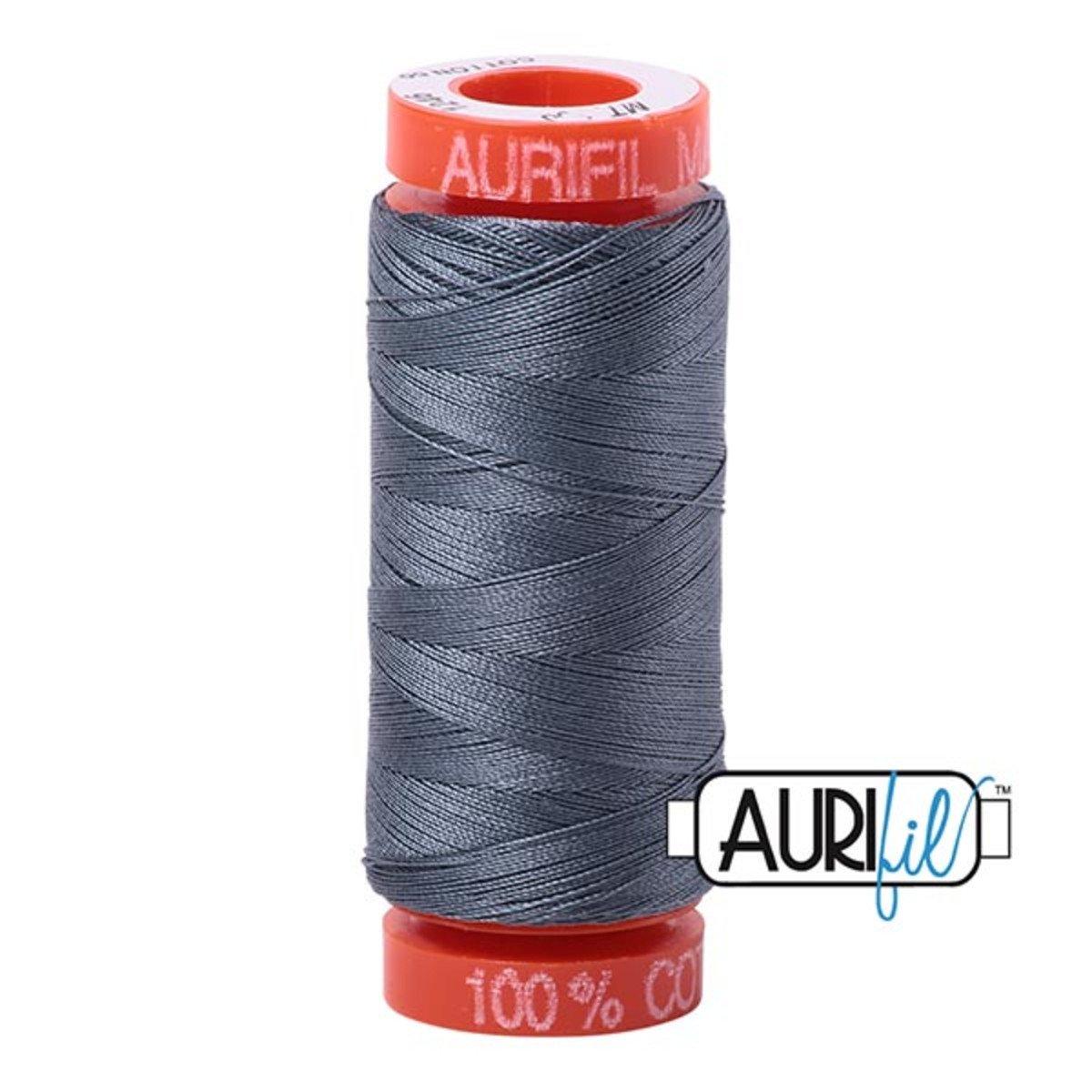 Aurifil Cotton 1246 Dark Grey 50wt 220 yds