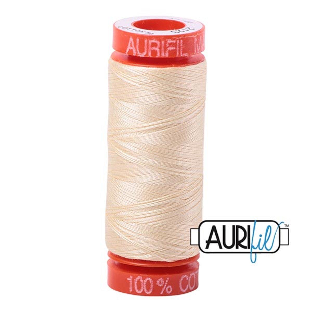 Aurifil Cotton 2123 Butter 50wt 220 yds