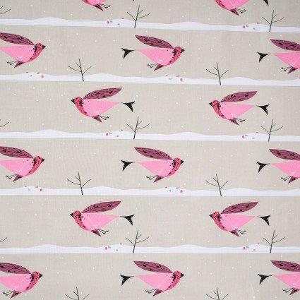 Charley Harper Winter Wonderland Purple Finch