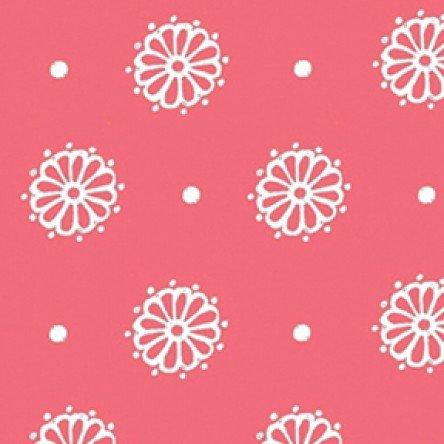 Butter Cream Dots / Flower on Dk Coral
