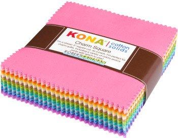 Charm Square Pk Kona Solids Pastels