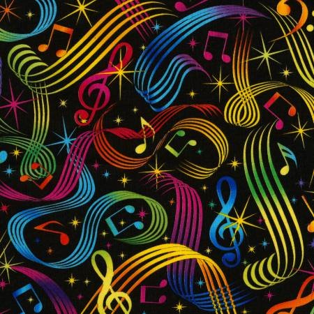 Music Notes on Black