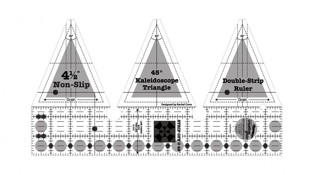 CGR 45 degree Double-strip Kaleidoscope Ruler