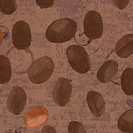 Coffee House Beans on Brown