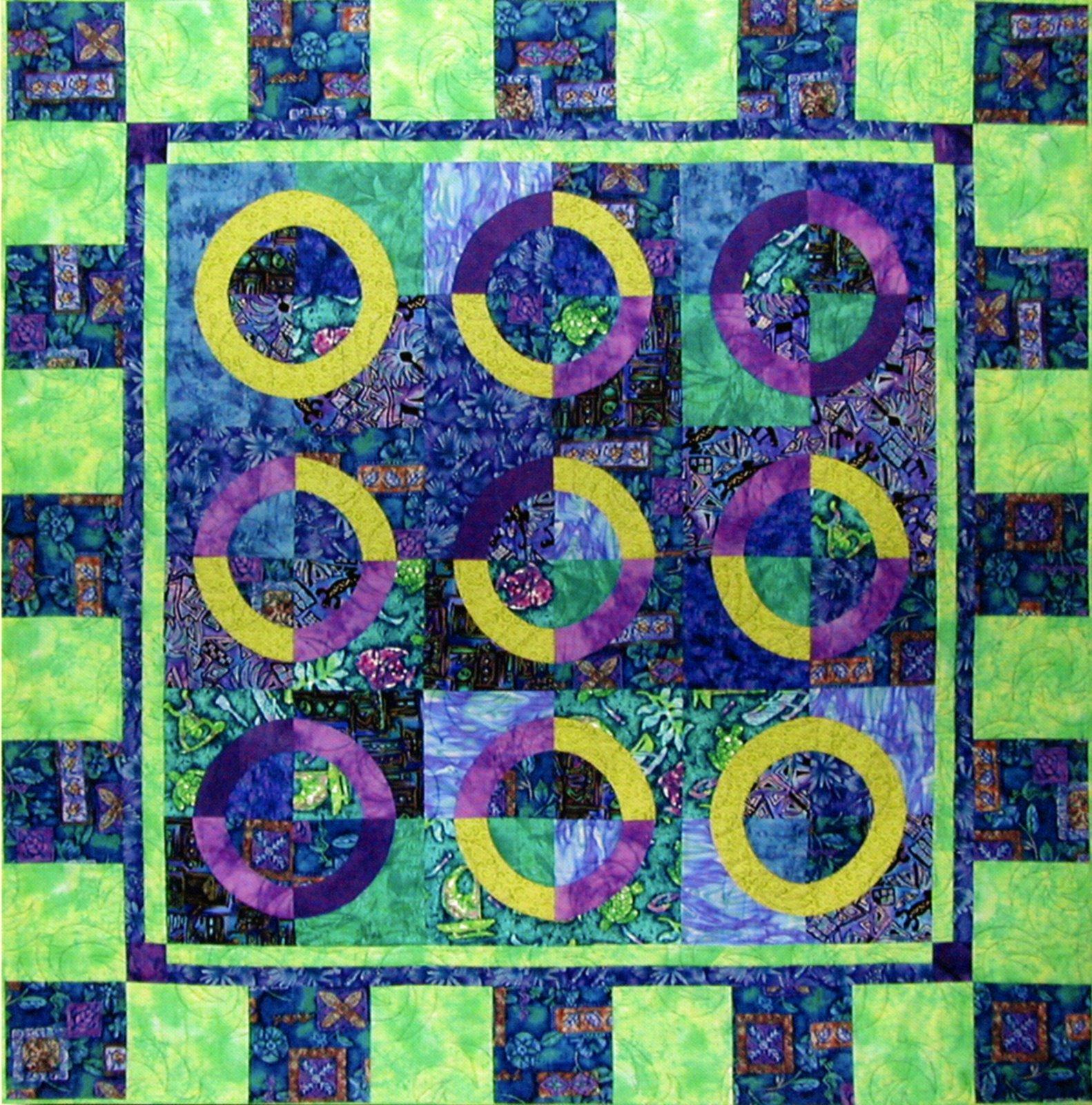 8 Rainbow Block Template & Pattern