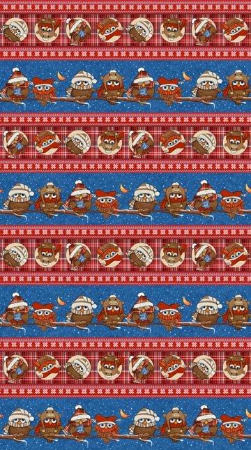 Cutie Hooties Flannel Repeating Stripe