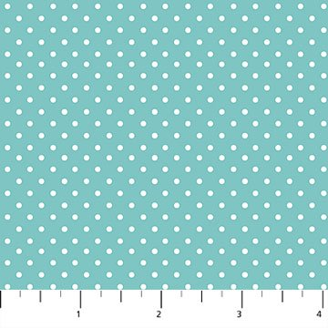 Hello Baby Dots on Blue Flannel