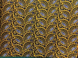 African Leaf and Vine Print