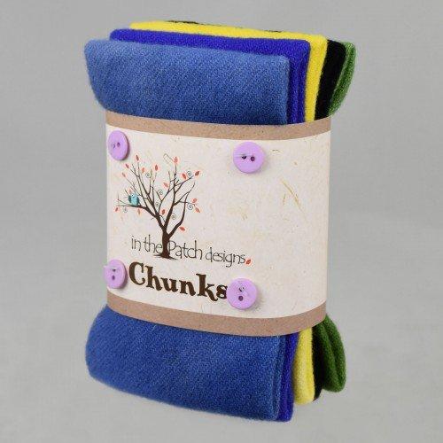 Wool Chunks Pansies
