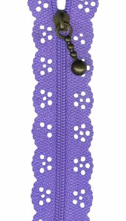 8in Lace Zipper Lilac