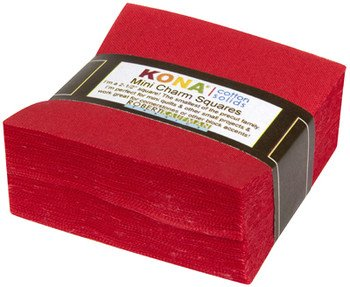Mini Squares Kona Cotton Red