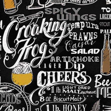 Pub Crawl Words Blk/White