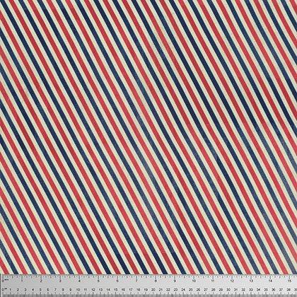Correspondence Postal Stripe Red