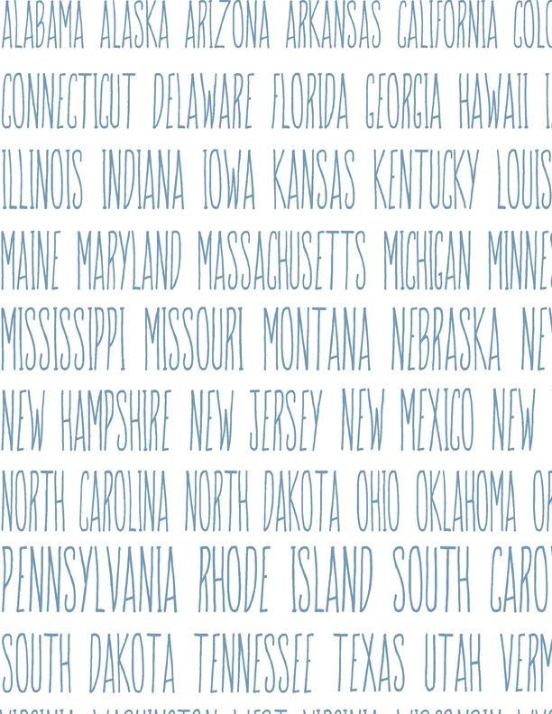 Heritage State Names on White