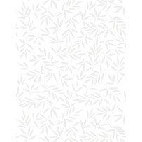 108 Essentials Mottled Leaves White on White