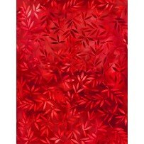 108 Essentials Mottled Leaves Red