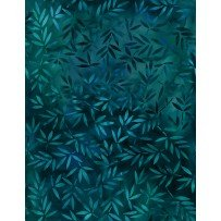 108 Essentials Mottled Leaves Dark Teal