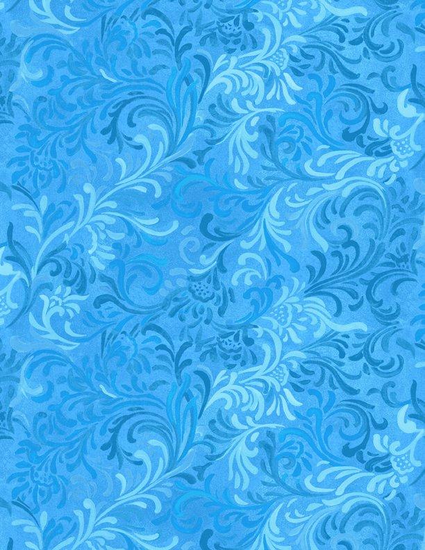 108 Flourish Blue