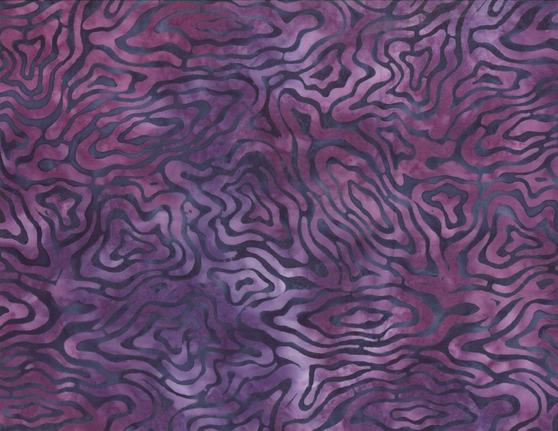 106 Rippled Reflections Batik Dk Purple