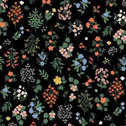 Strawberry Fields Sm Floral Blk