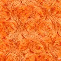 Rosebud Snuggle Minky Orange