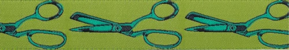 Cut Once Green 7/8 Ribbon
