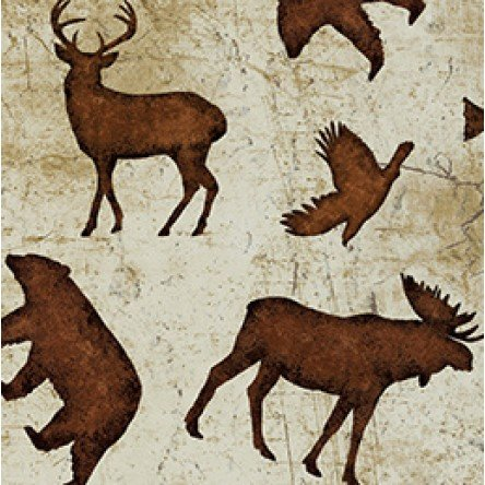 Wilderness Flannel Forest Animals