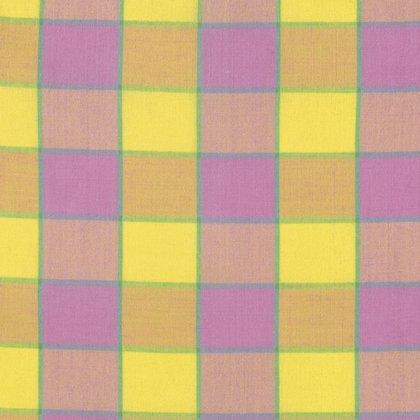Artisan Checkerboard Plaid Ikat Pink