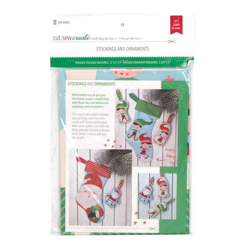 Christmas Stocking and Ornaments Panel