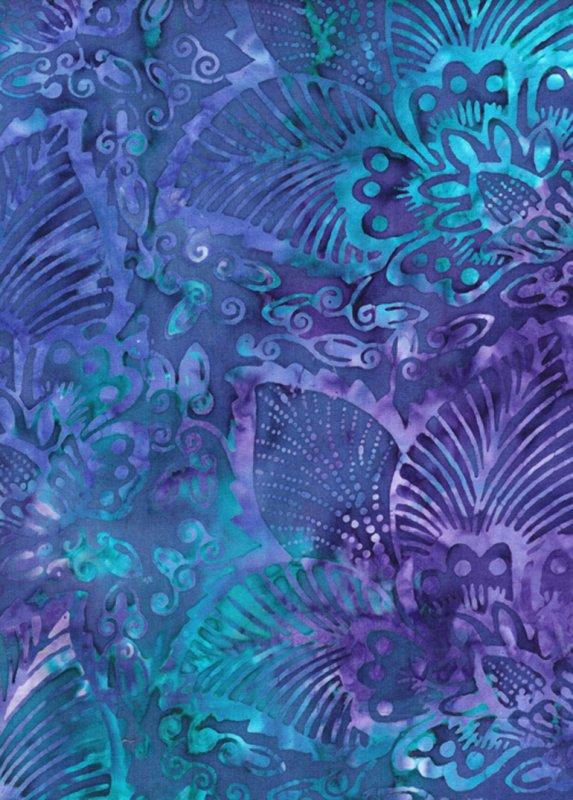 106 Tonga Batik Tri-Exotic Leaf Reef