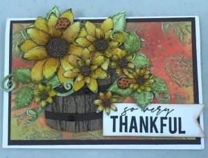 Thankful Sunflower Card