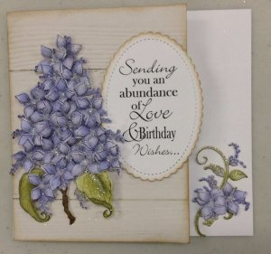 Sending Birthday Wishes Card with Some Purple Flowers on it