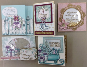 Multiple Christmas Cards With Different Designs