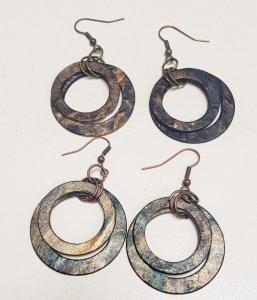 brown paper bag earrings