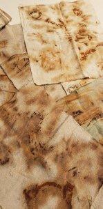 rust marks on fabric