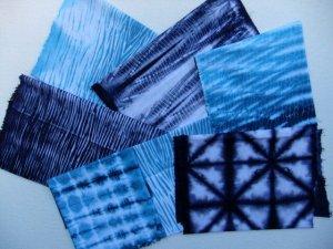 indigo dyeing samples