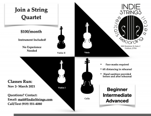 Sign up to join a String Quartet!