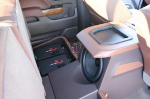 GM Full size custom rear seat amp sub