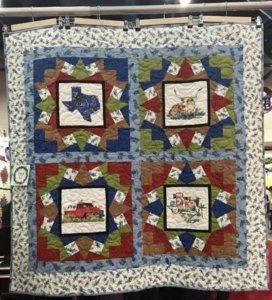 Longhorn and state of Texas paintings for Quilts by Kathleen McElwaine