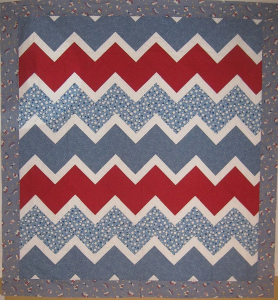 Chevron - My sample using 30s fabrics, just 4 half yard cuts!