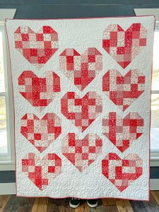 Scrappy Hearts Quilt Kit