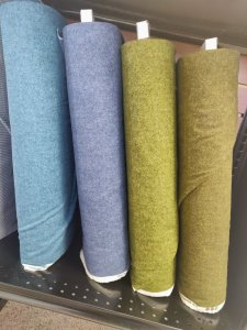 Wool Tweed Flannels - reg. width from Benartex