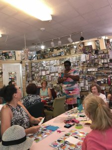 Crafters got to make some make-n-takes at Surprise in Bermuda