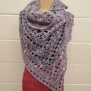 Yarn Refuge Meandering up Mountains crocheted shawl
