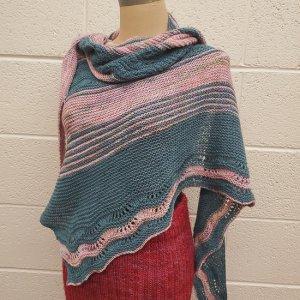 Yarn Refuge Emerald Bay knitted shawl