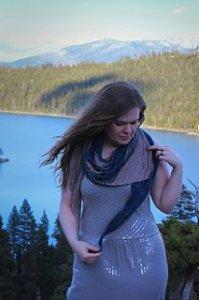 Emerald Bay knitted shawl