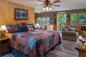 chocolate moose cottage room bed