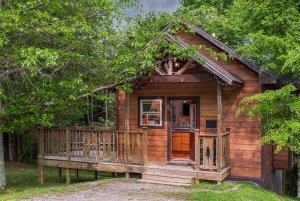 get'n squirrelly cabin exterior